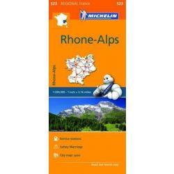 523. Rhone Alpes térkép Michelin 1:200 000