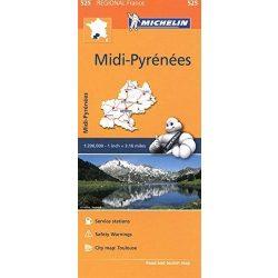 525. Midi-Pirénées térkép Michelin 2016 1:200 000