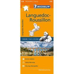 526. Languedoc térkép, Roussillon térkép Michelin 1:200 000  2016