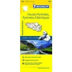 342. Hautes-Pyrénées Atlantiques térkép Michelin 1:150 000