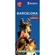 Barcelona térkép Michelin Street Map Laminated