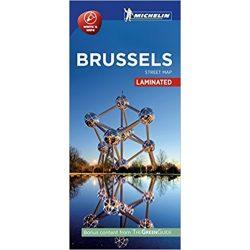 Brüsszel térkép Michelin Street Map Laminated
