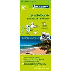 137. Guadeloupe térkép  Michelin  1:80 000  St-Martin térkép