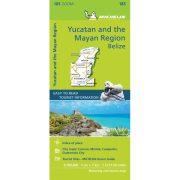 Yucatan & the Mayan Region, Yucatan térkép Michelin, 1:700 000  Belize térkép, Cancún térkép 2019