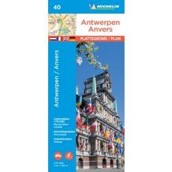 40. Antwerpen térkép Michelin Antwerpen várostérkép