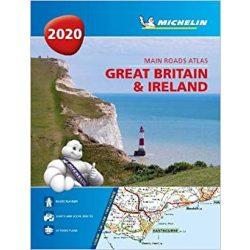 Nagy-Britannia atlasz spirál Michelin 1:300 000 Írország atlasz, Nagy-Britannia térkép 2020