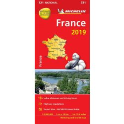 721. Franciaország térkép Michelin 2019 1:1 000 000