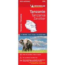 810. Tanzánia térkép Michelin Zanzibár térkép 2019