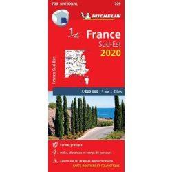 709. Délkelet-Franciaország térkép Michelin  1:500 000