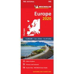 705. Európa térkép Michelin, Európa autós térkép  1:3 000 000  2020
