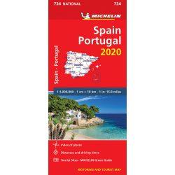 734. Spanyolország és Portugália térkép Michelin 1:1 000 000