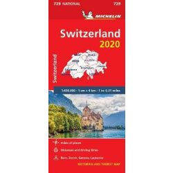 729. Svájc térkép Michelin 1:400 000