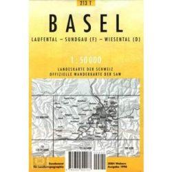 213 T Basel turista térkép Landestopographie 1:50 000