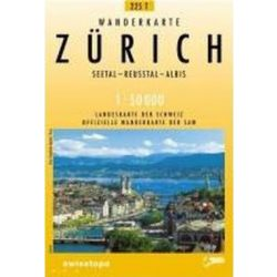 225 T Zürich turista térkép Landestopographie 1:50 000