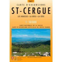 260 T St-Cergue turista térkép Landestopographie 1:50 000