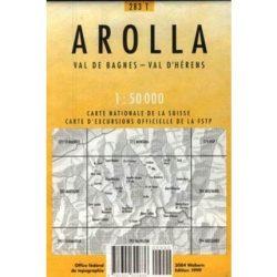 283 T Arolla turista térkép Landestopographie 1:50 000