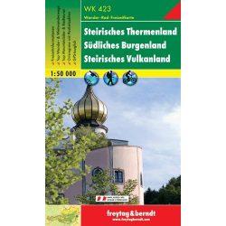 WK 423 Steirisches Thermenland, Südliches Burgenland, Steirisches Vulkanland turistatérkép 1:50 000