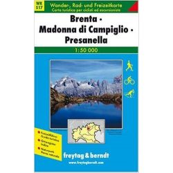 WKS 17 Brenta-Madonna di Campiglio-Presanella turista térkép Freytag 1:50 000