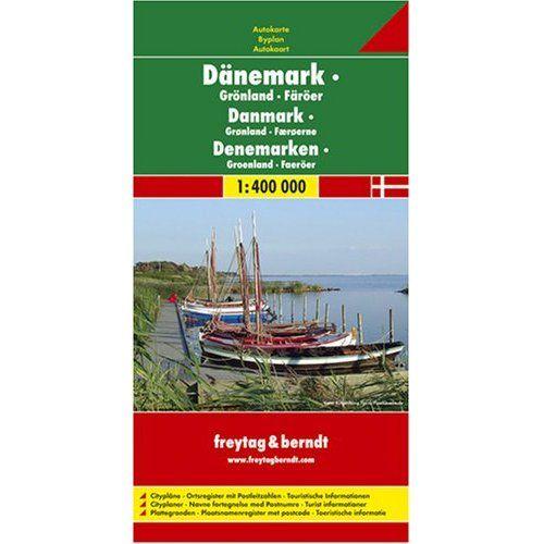 Dánia térkép-Grönland-Feröer-szigetek, 1:400 000  Freytag térkép AK 6301   2013