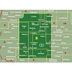 Németország 05 Hessen, 1: 200 000  Freytag térkép AK 0210