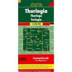 Németország 06 Türingia, 1:200 000  Freytag térkép AK 0211