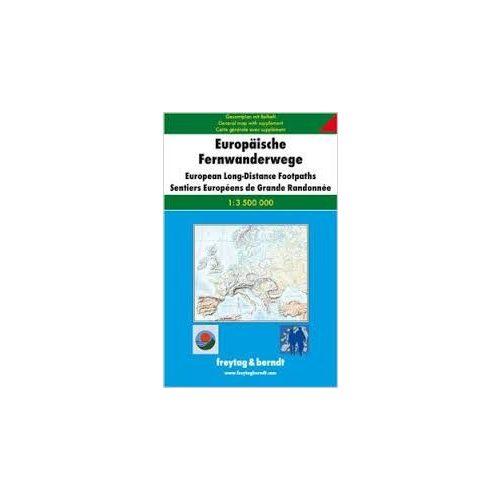 Európai turistautak, 1:3 500 000  Freytag térkép GPEFWW