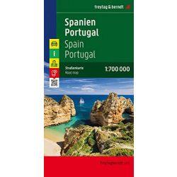 Spanyolország térkép - Portugália térkép, 1:700 000  Freytag térkép AK 0515