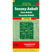 Németország 10 Szász-Anhalt, 1:200 000  Freytag térkép AK 0216