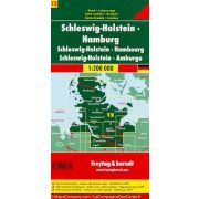 Németország 12 Schleswig–Holstein - Hamburg, 1:200 000  Freytag térkép AK 0218