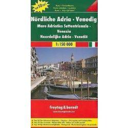 Észak-Adria térkép, Velence térkép,  Top 10 tipp, 1:150 000  Freytag AK 0607