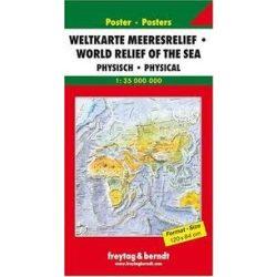 Világtérkép tengerfenékdomborzattal hajtott  Freytag térkép WNATMR 1