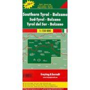 Dél-Tirol térkép, Bozen térkép, Top 10,  1:150 000  Freytag térkép AK 0611 Bolzano, Südtirol