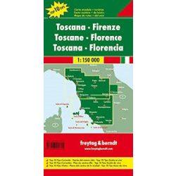 Toszkána térkép, Firenze térkép Top 10  1:150 000  Freytag  AK 0610