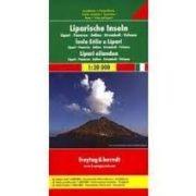 Lipari-szigetek térkép, Panarea, Salina, Stromboli, Vulcano  1:20 000  Freytag térkép AK 0613