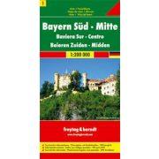 Németország 01 Dél- és Közép-Bajorország, 1:200 000  Freytag térkép AK 0220