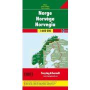 Norvégia térkép 1:600 000  Norvégia autótérkép Freytag AK 0659  2020