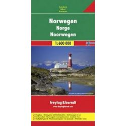 Norvégia, 1:600 000  Freytag térkép AK 0659