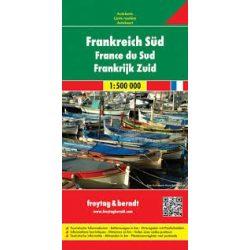 Franciaország dél térkép  1:500 000  Freytag térkép AK 0406
