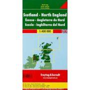 Skócia térkép, Észak-Anglia térkép 1:400 000  Freytag  AK 0288