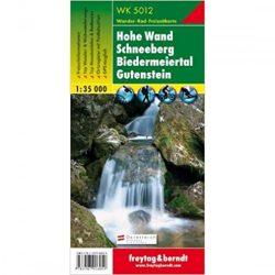 WK 5012 Hohe Wand, Schneeberg, Biedermeiertal, Gutenstein turistatérkép 1:35 000