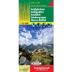 WK 5181 Großglockner, Heiligenblut, Sonnblick, Schobergruppe, Oberes Mölltal turistatérkép 1:35 000