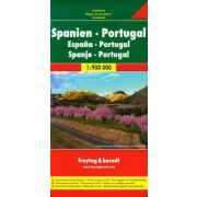 Spanyolország térkép és Portugália térkép 1:900 000  Freytag térkép AK 0522