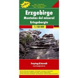 Érchegység térkép, Top 10, 1:150 000  Freytag térkép DEU 4