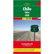 Chile térkép 1:1 500 000  Freytag térkép AK 140