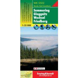 WK 5502 Semmering, Gloggnitz, Wechsel, Friedberg turistatérkép  1:35 000