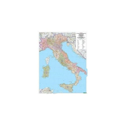 Olaszország postai irányítószámos térkép, műanyaghengerben, 1:1 000 000  Freytag PLKI P