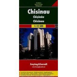 Chisinau térkép Freytag Kisinyov város térkép 1:12 500