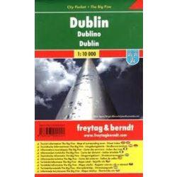 Dublin térkép, 1:10 000 City Pocket vízhatlan térkép Freytag PL 95 CP  2010