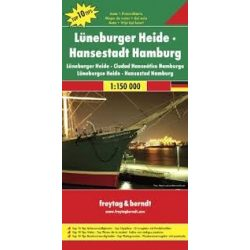 Lüneburger Heide-Hansestadt Hamburg, Top 10 tipp, 1:150 000  Freytag térkép DEU 5