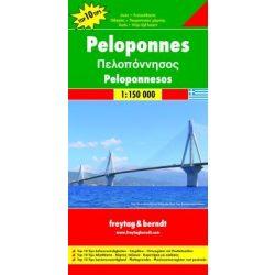 Peloponnes térkép, Peloponnesos térkép Freytag & Berndt 1:150 000  2013